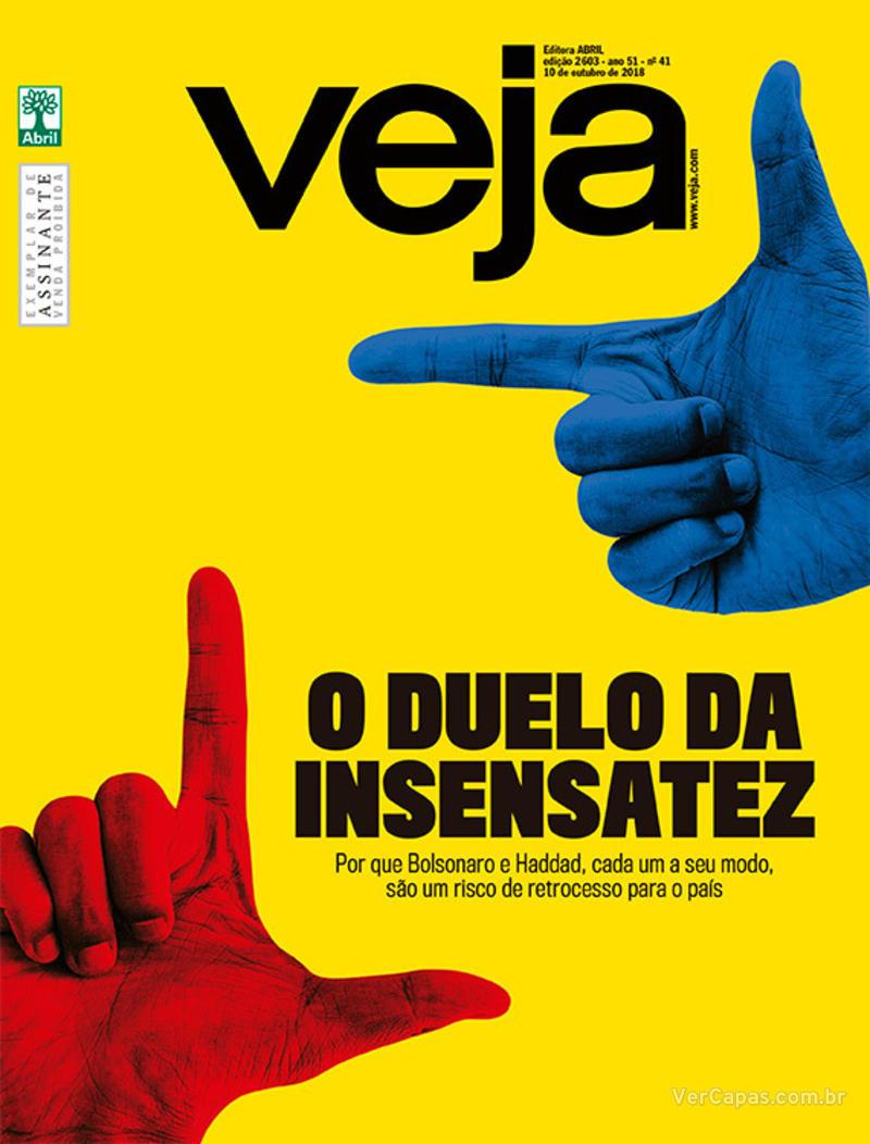 Capa da revista Veja 06/10/2018