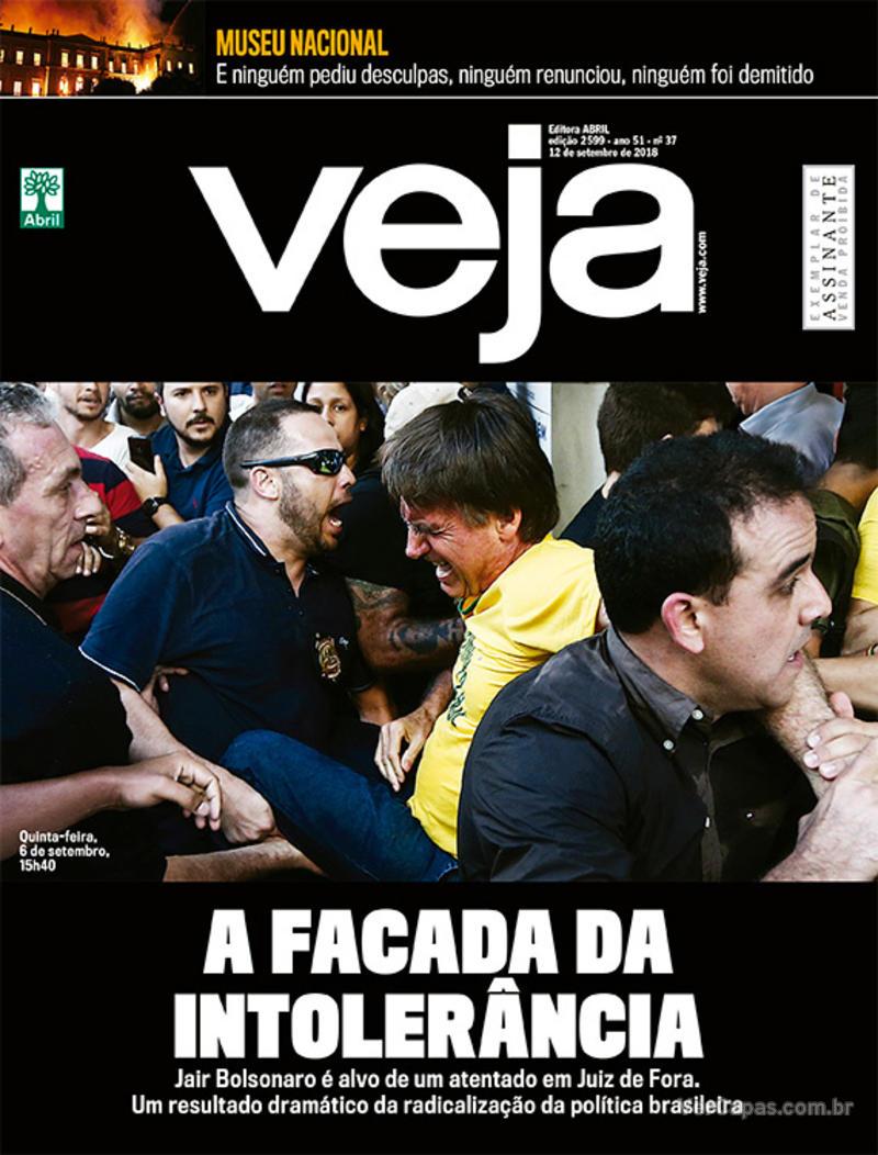 Capa da revista Veja 08/09/2018