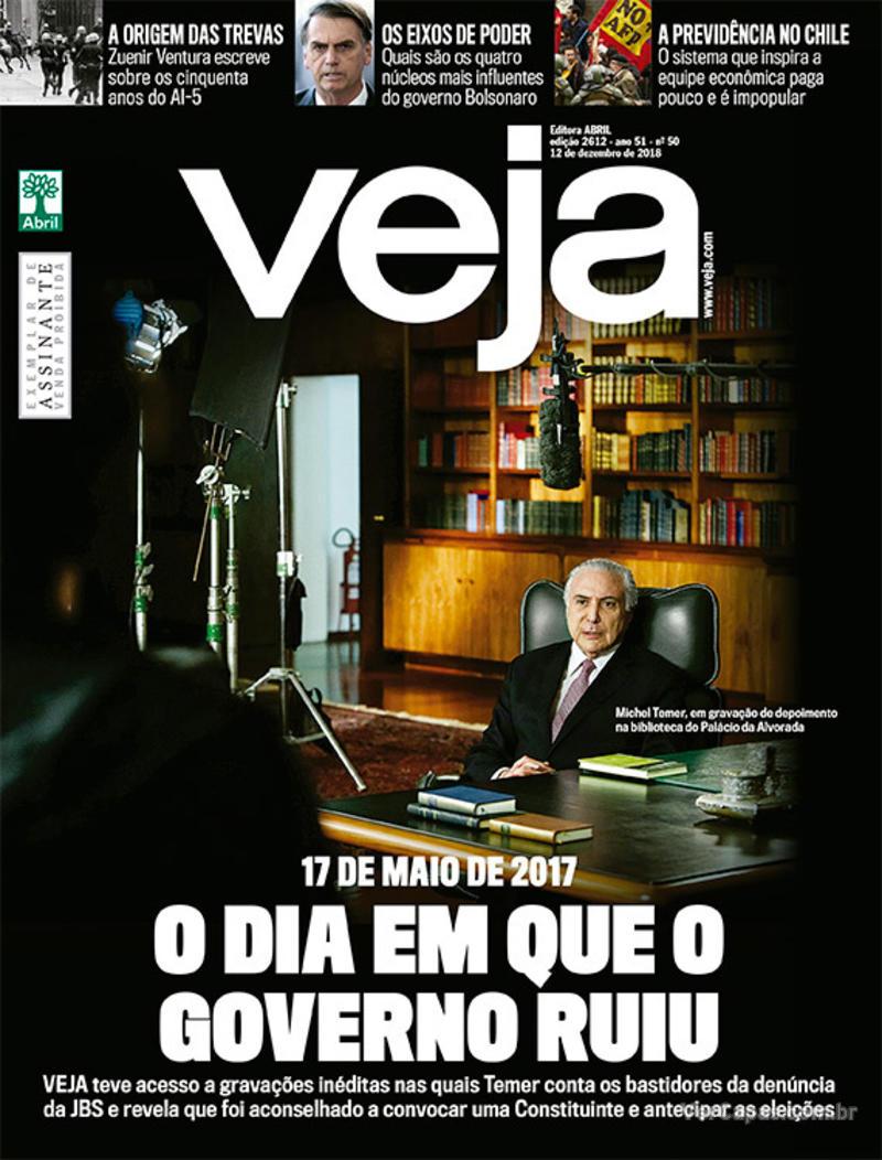 Capa da revista Veja 08/12/2018