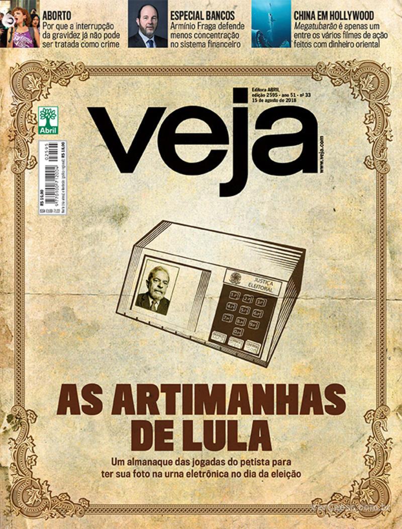 Capa da revista Veja 11/08/2018