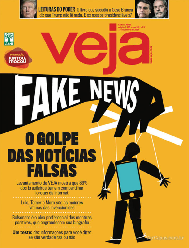 Capa da revista Veja 13/01/2018