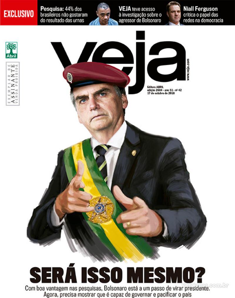 Capa da revista Veja 13/10/2018