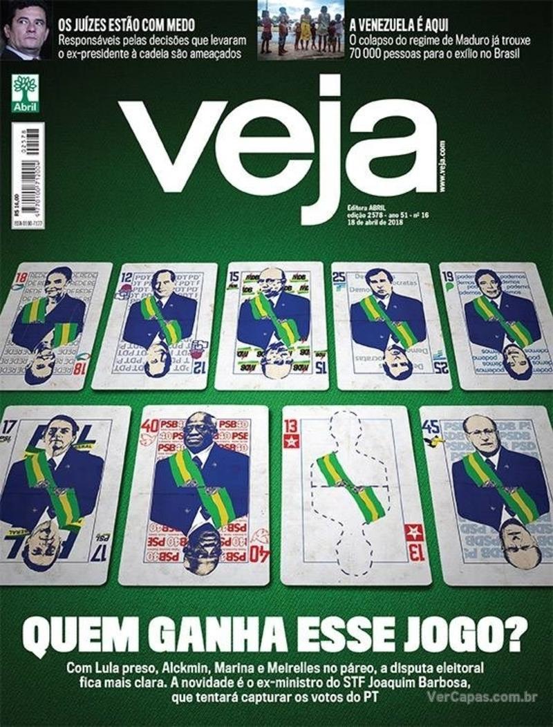 Capa da revista Veja 14/04/2018