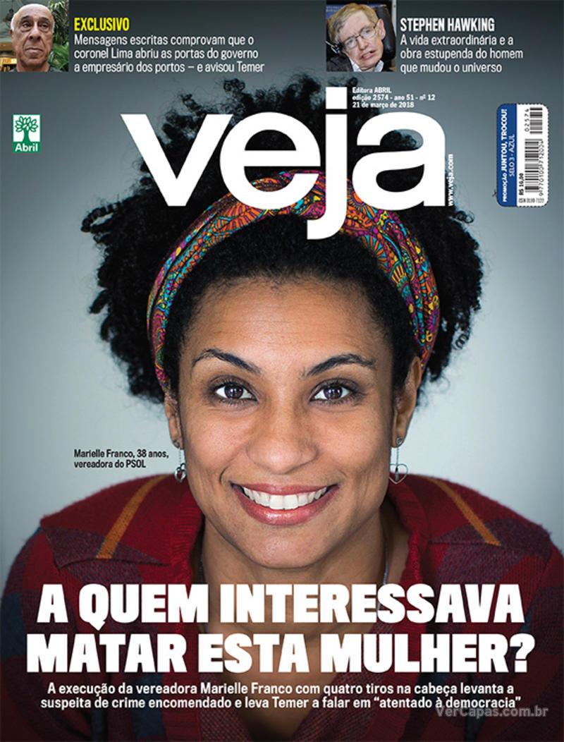 Capa da revista Veja 17/03/2018