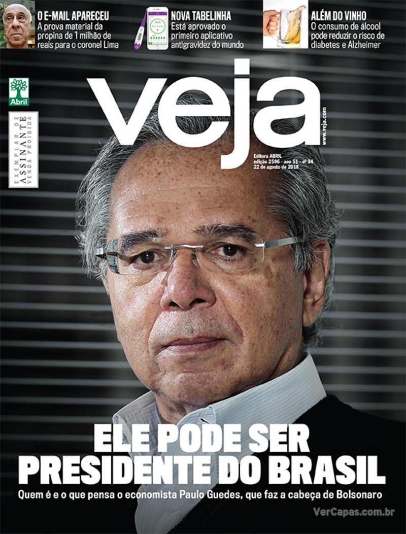 Capa da revista Veja 18/08/2018