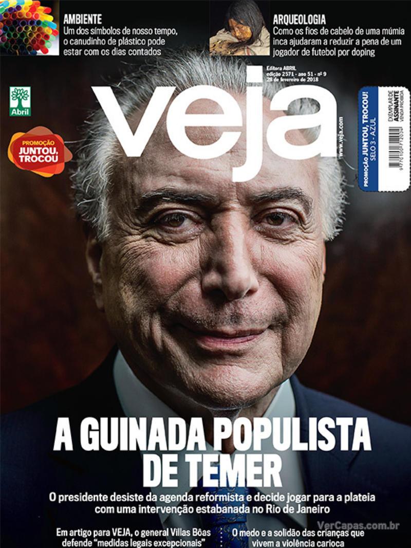 Capa da revista Veja 24/02/2018