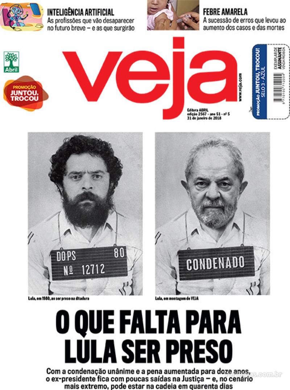Capa da revista Veja 27/01/2018