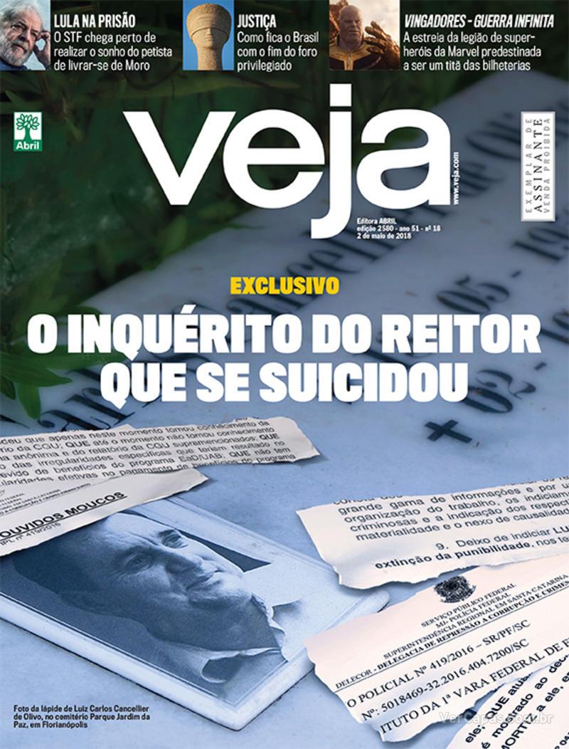 Capa da revista Veja 28/04/2018
