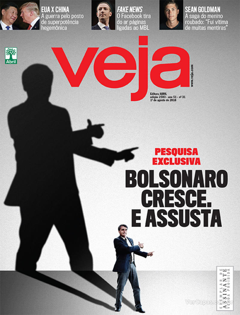 Capa da revista Veja 28/07/2018