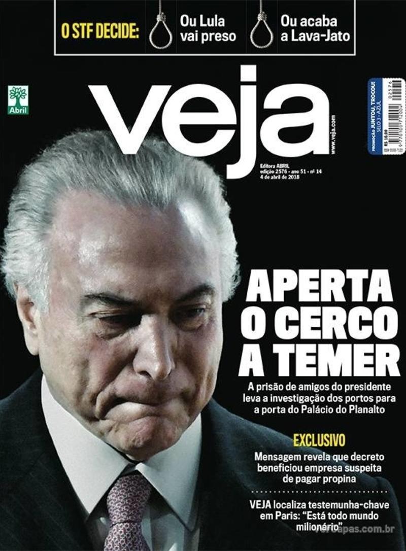 Capa da revista Veja 31/03/2018