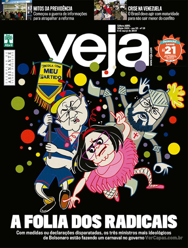 Capa da revista Veja 02/03/2019