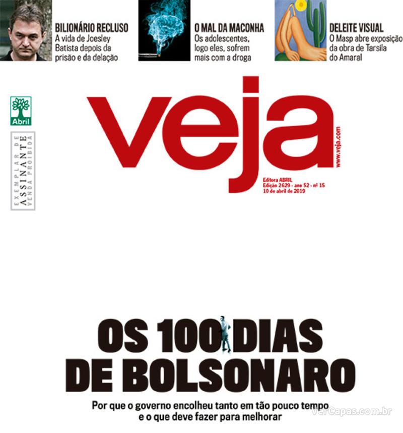 Capa da revista Veja 06/04/2019