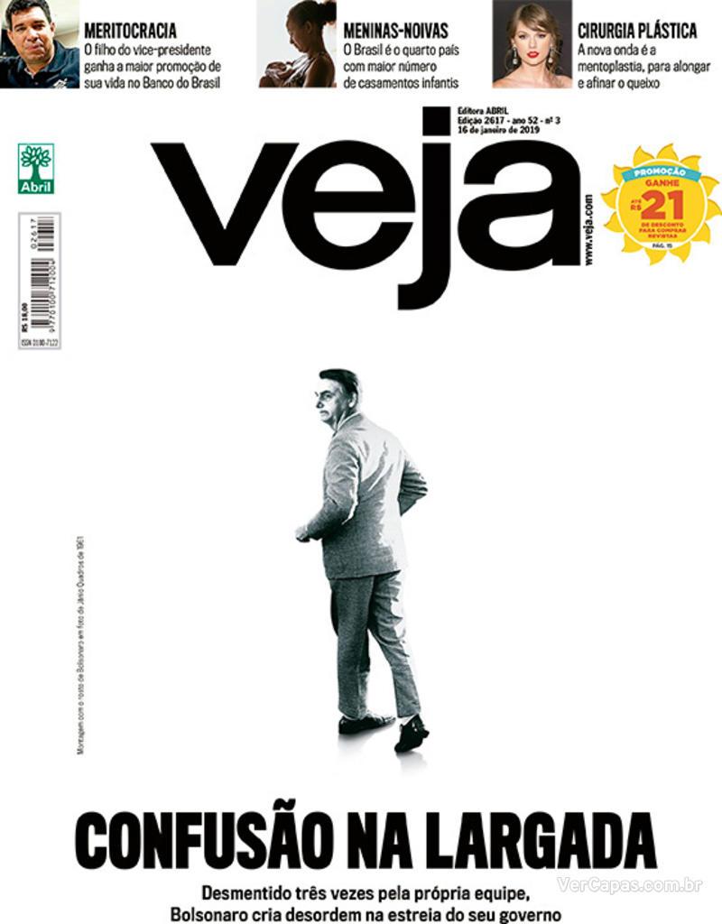 Capa da revista Veja 12/01/2019