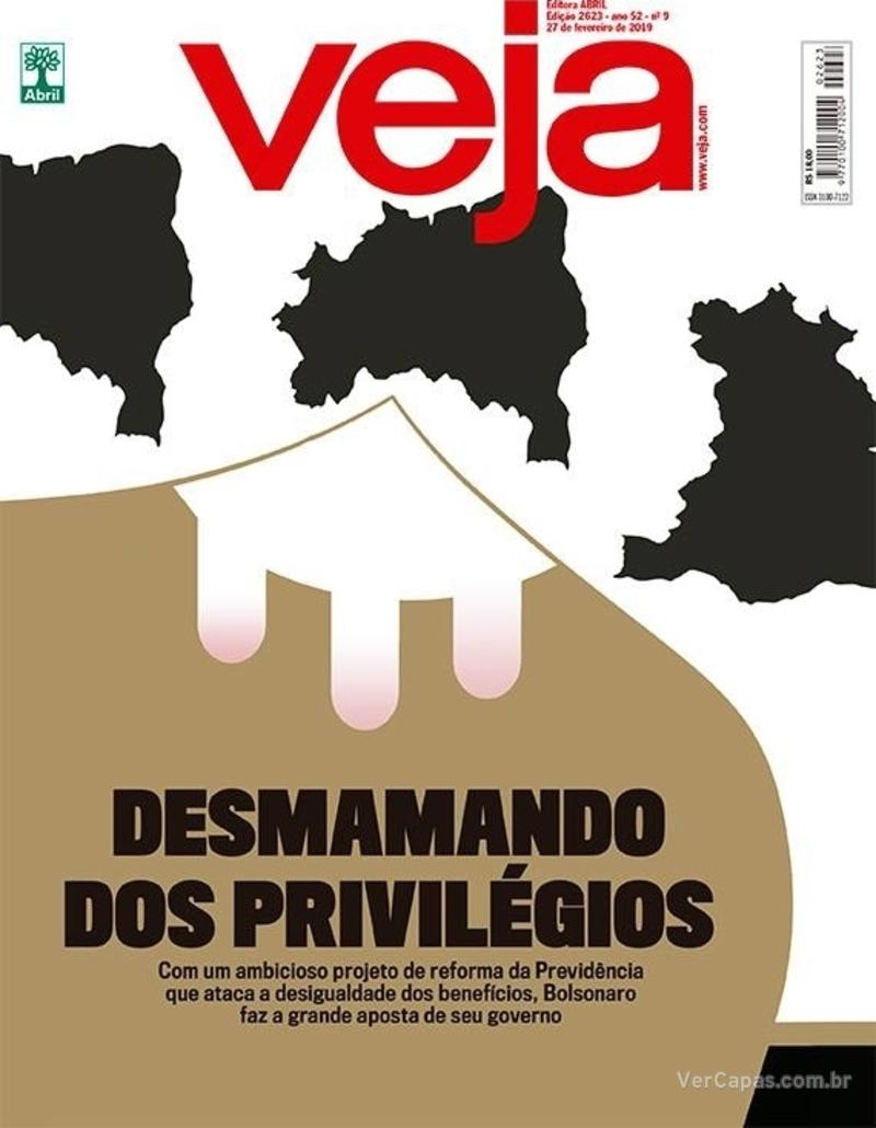Capa da revista Veja 23/02/2019