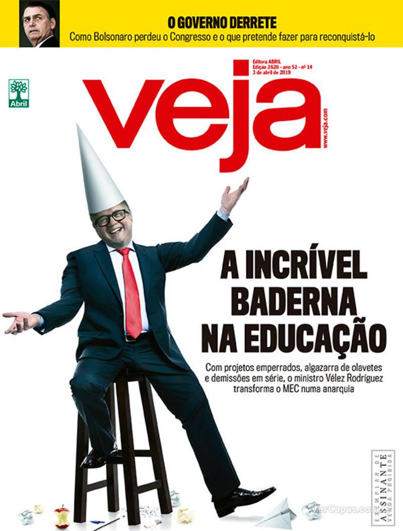 Capa da revista Veja 30/03/2019
