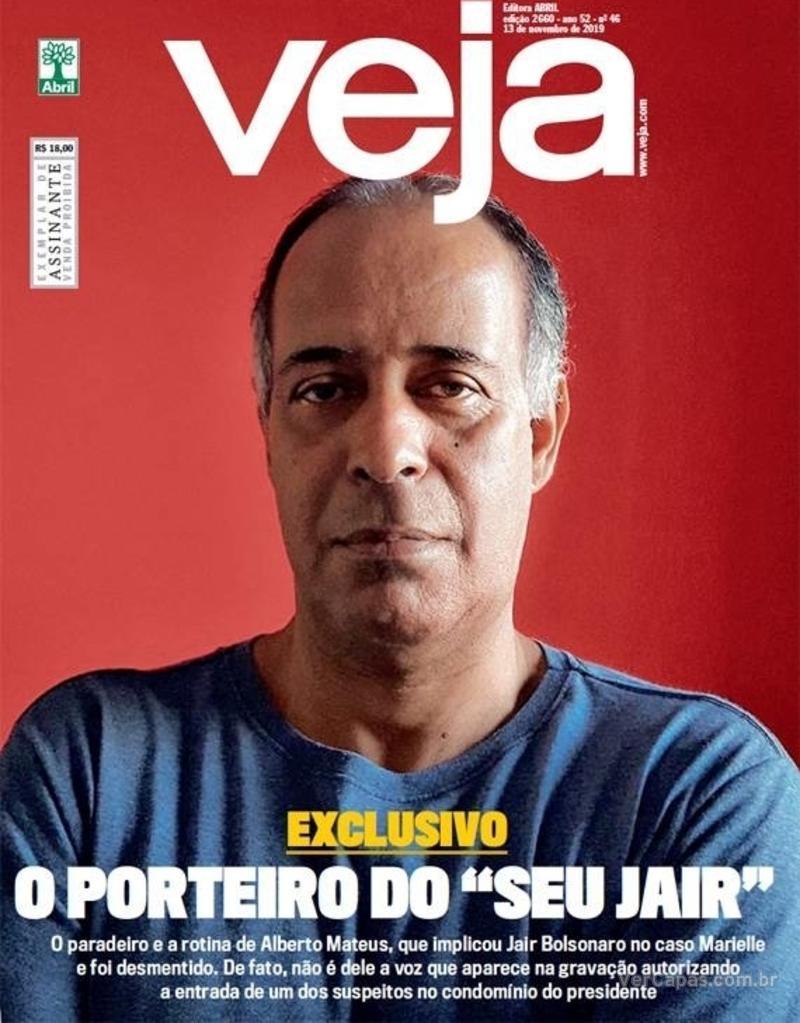 Capa da revista Veja 09/11/2019