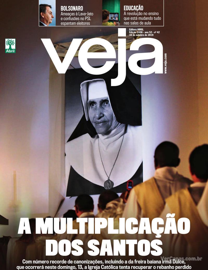 Capa revista Veja 12/10/2019