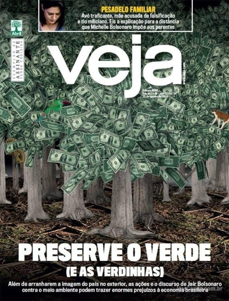 Capa revista Veja 17/08/2019