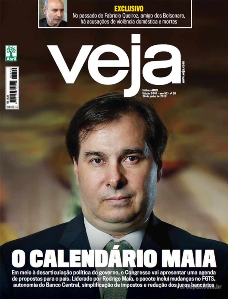 Capa revista Veja 22/06/2019