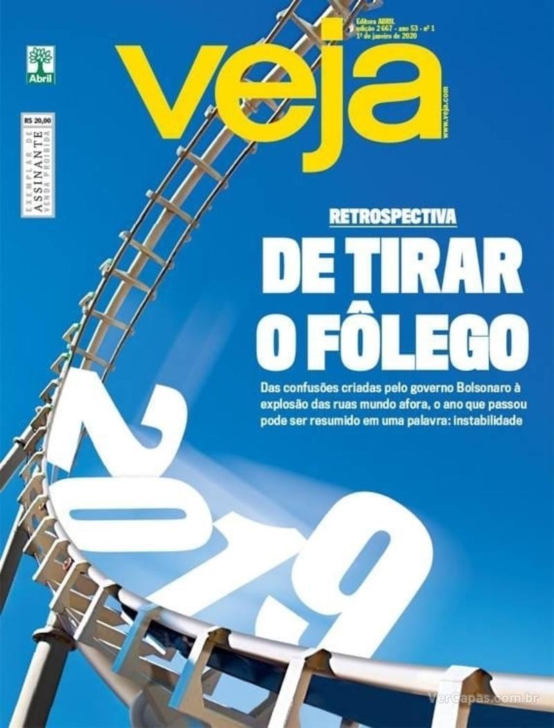 Capa da revista Veja 28/12/2019