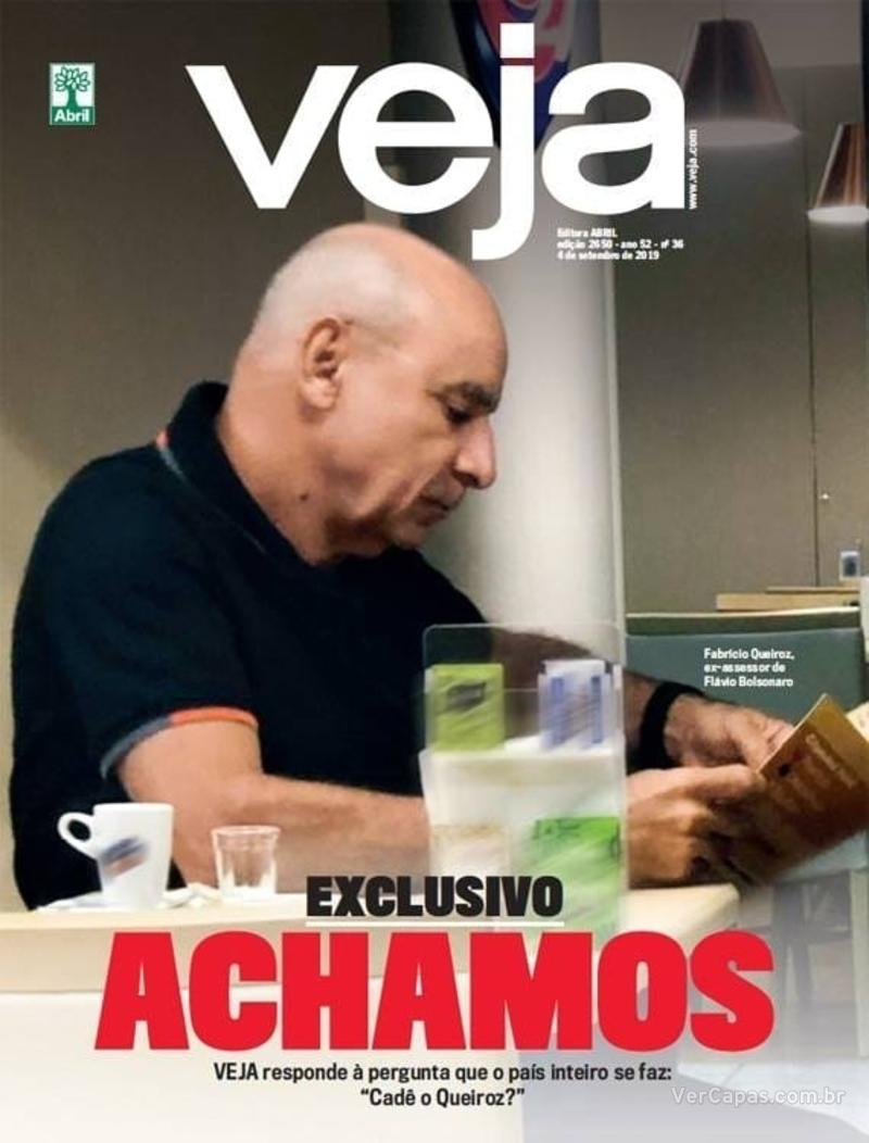 Capa da revista Veja 31/08/2019