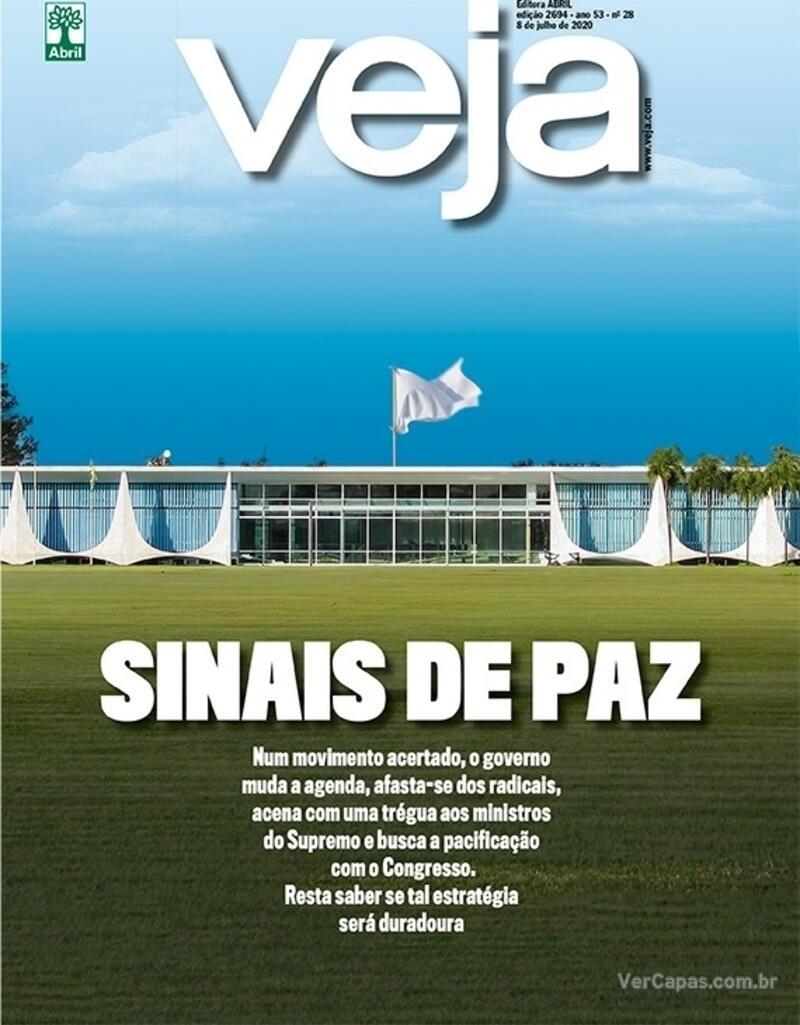 Capa da revista Veja 03/07/2020