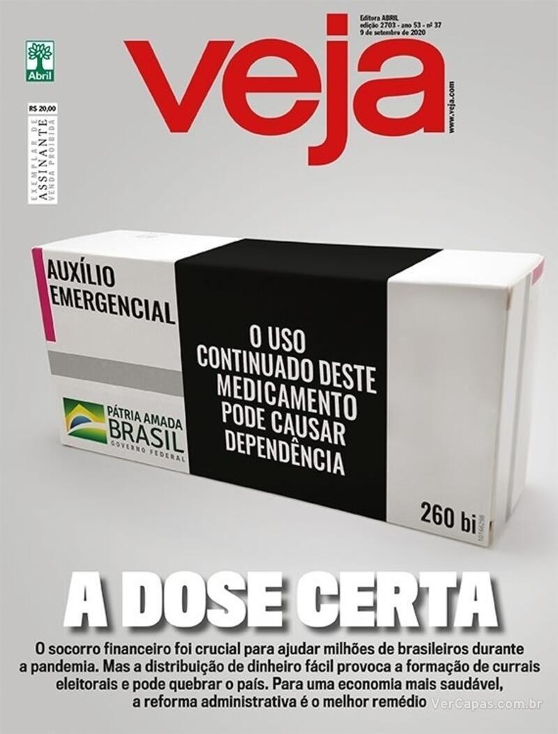 Capa da revista Veja 04/09/2020