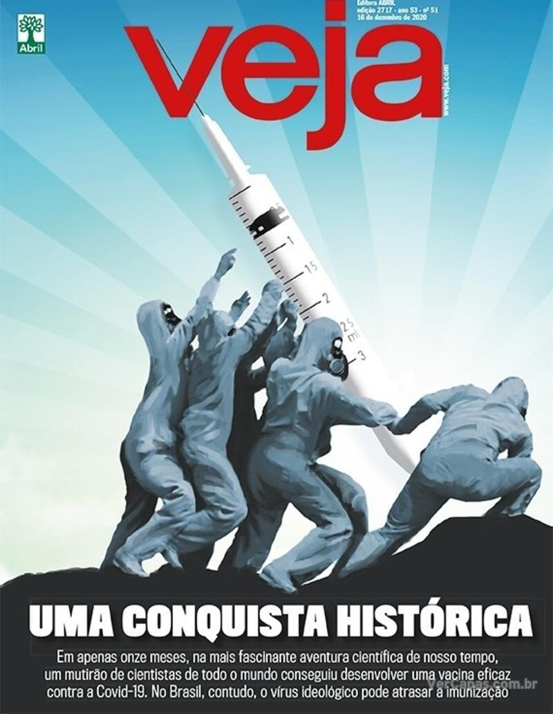 Capa da revista Veja 11/12/2020