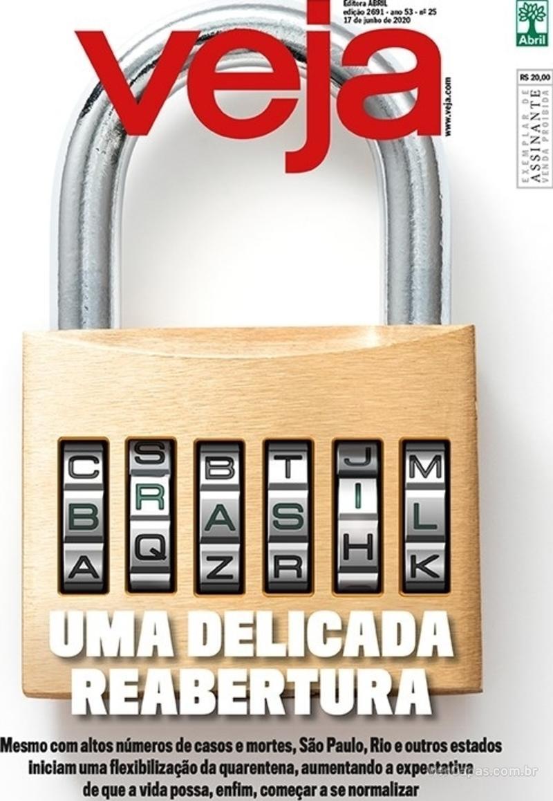 Capa da revista Veja 12/06/2020