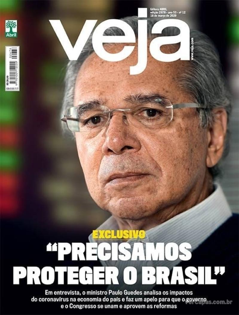 Capa da revista Veja 13/03/2020
