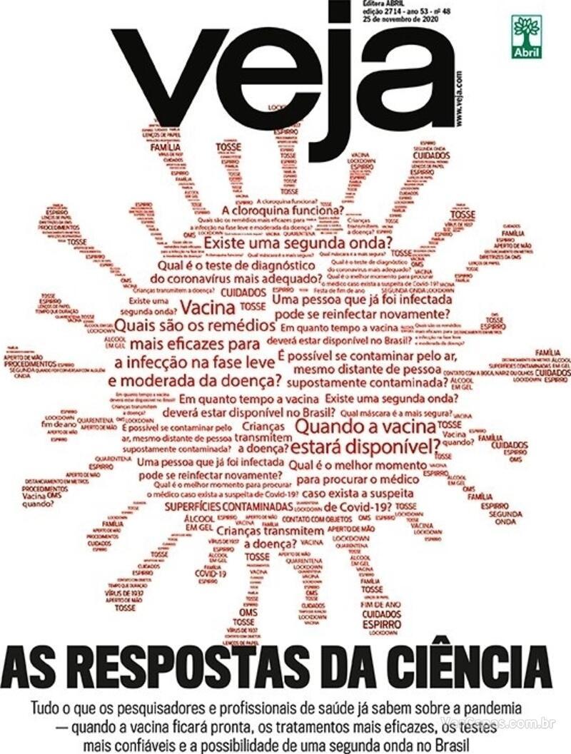 Capa da revista Veja 20/11/2020