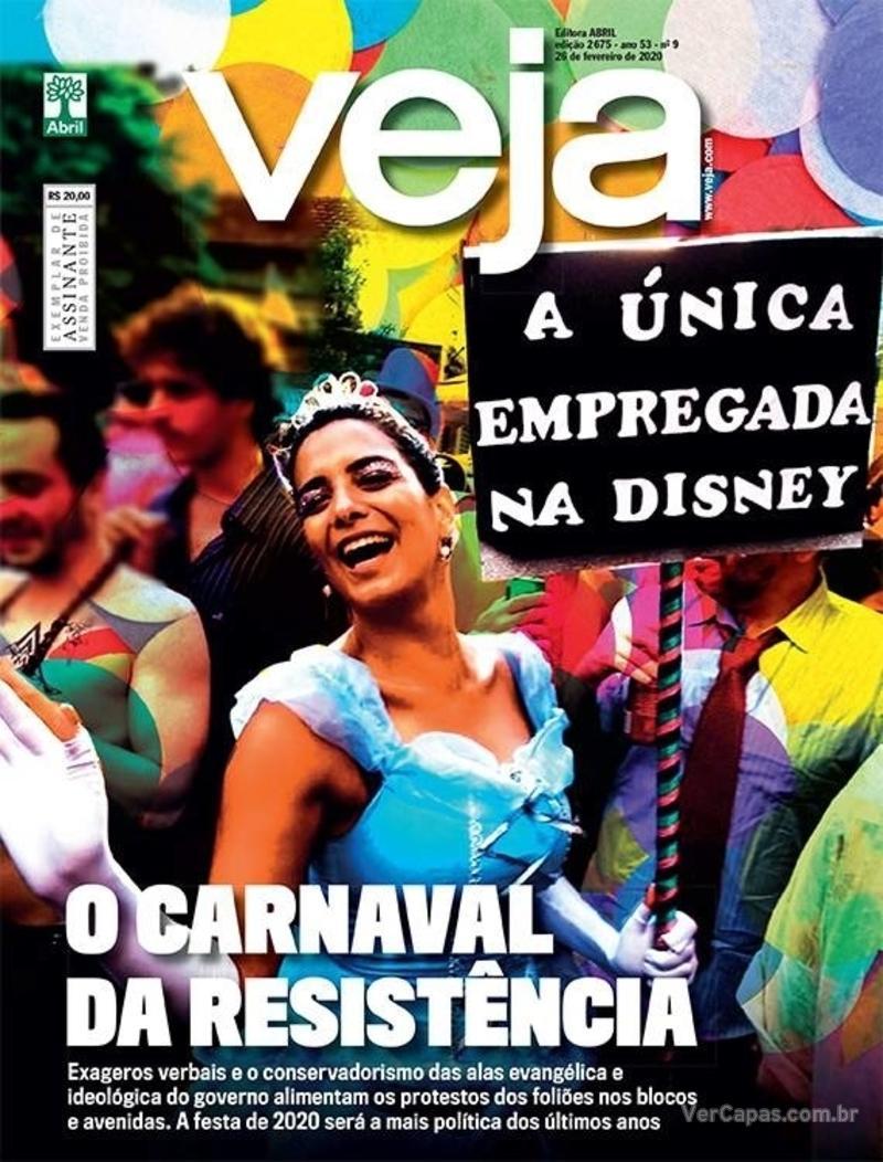Capa da revista Veja 21/02/2020