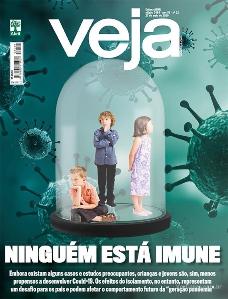 Capa da revista Veja 22/05/2020