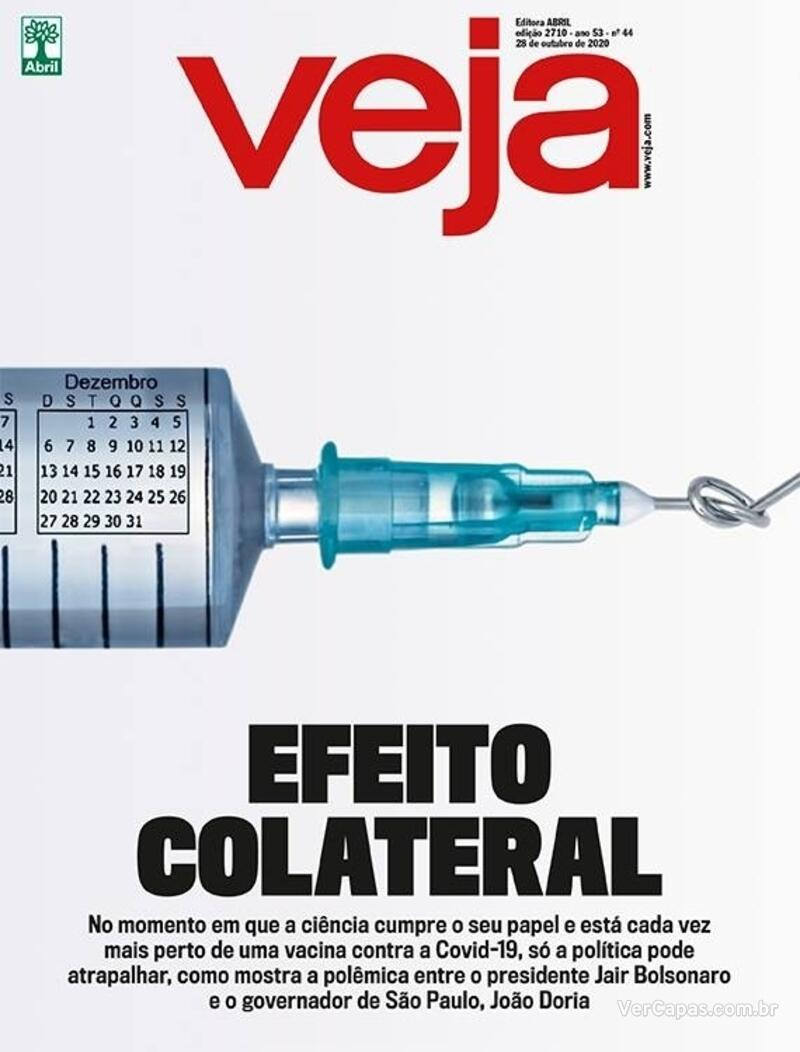 Capa da revista Veja 23/10/2020