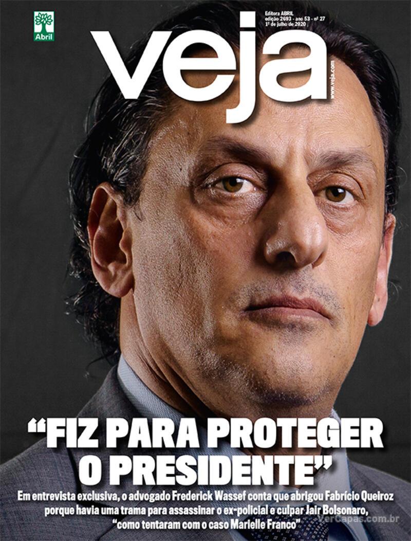 Capa da revista Veja 26/06/2020
