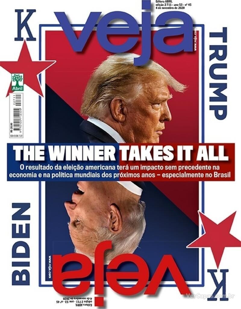 Capa da revista Veja 30/10/2020