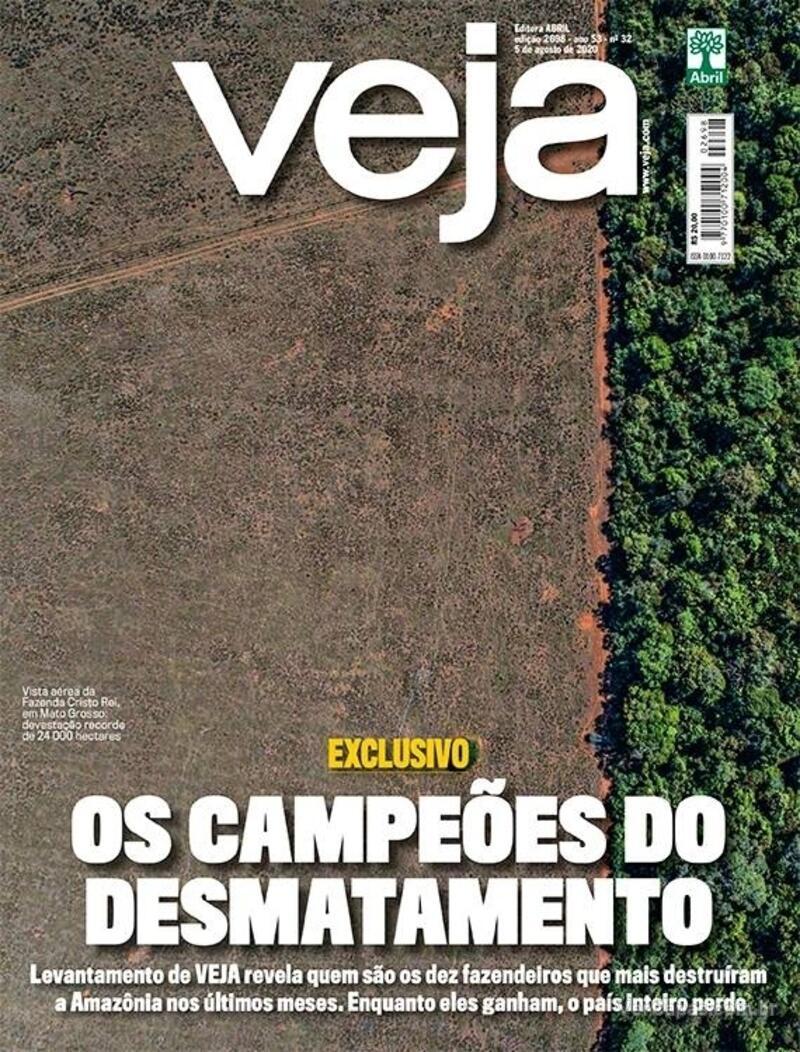 Capa da revista Veja 31/07/2020