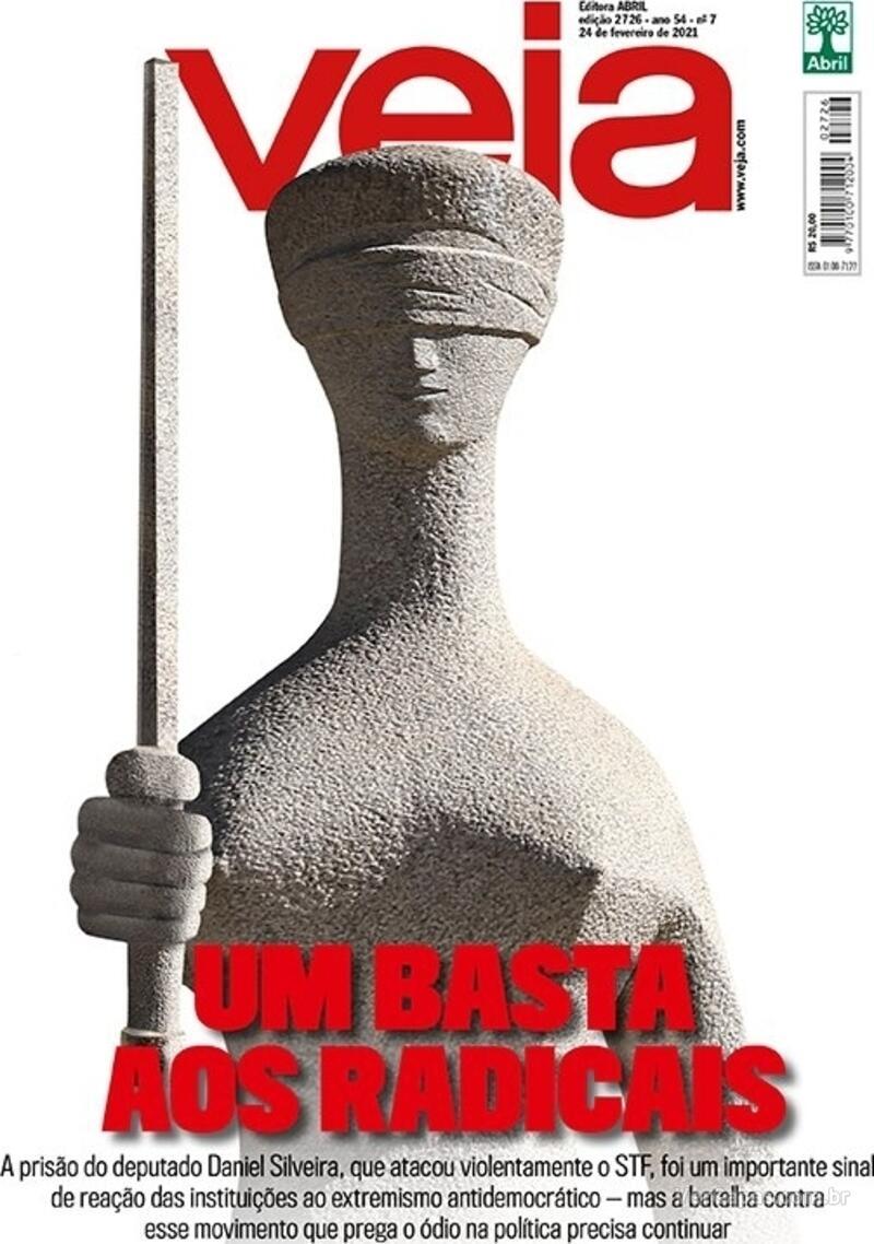 Capa da revista Veja 19/02/2021
