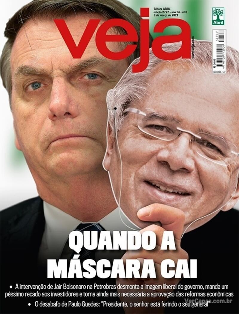 Capa da revista Veja 26/02/2021