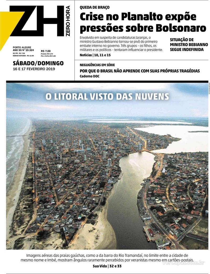 Capa Zero Hora 2019-02-16