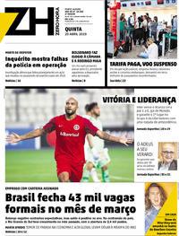 Capa Zero Hora 2019-04-25