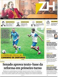 Capa do jornal Zero Hora 02/10/2019