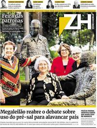 Capa do jornal Zero Hora 02/11/2019