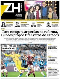 Capa do jornal Zero Hora 03/10/2019