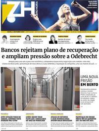 Capa do jornal Zero Hora 04/10/2019