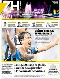 Capa do jornal Zero Hora 04/11/2019