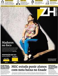 Capa do jornal Zero Hora 05/10/2019