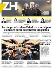 Capa do jornal Zero Hora 06/11/2019