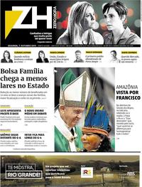 Capa do jornal Zero Hora 07/10/2019