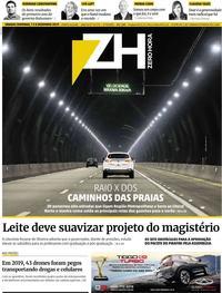 Capa do jornal Zero Hora 07/12/2019